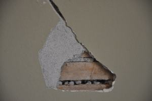 Hole resulting from loose Plaster